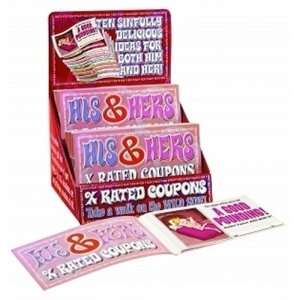 His and Hers X-Rated Coupons - Counter Display