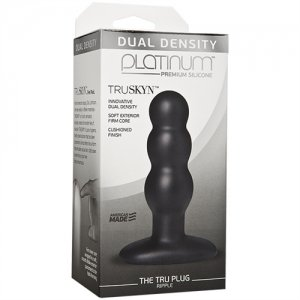 Platinum Truskyn the Tru Plug - Ripple - Black