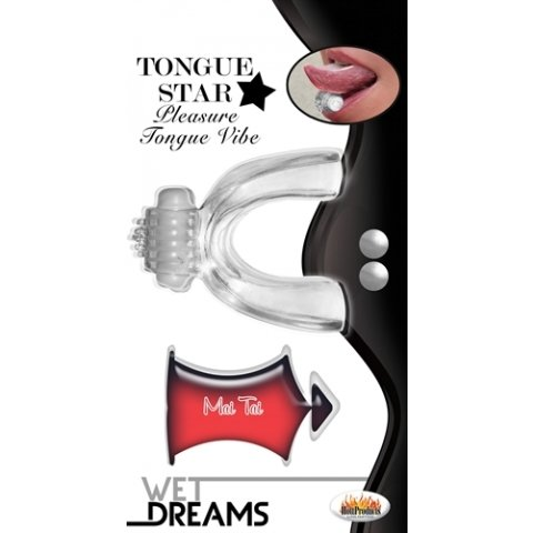 Tongue Star Tongue Vibe - Clear W/ 10 Ml Liquor Lube