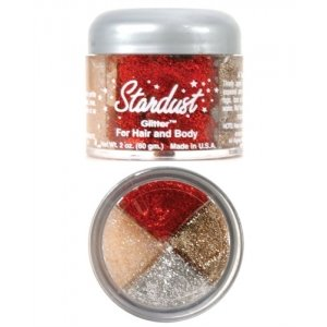 Stardust Rainbow Glitter - Red Silver Gold Crystal