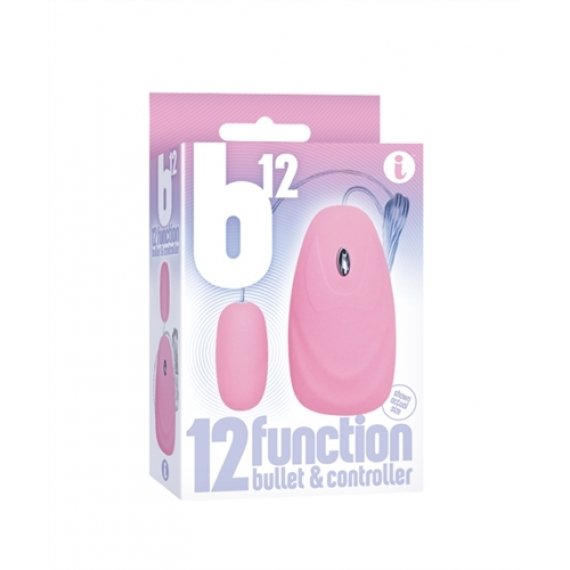 The 9's 12-function Bullet and Remote - Pink