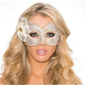 Gold Brocade Mask
