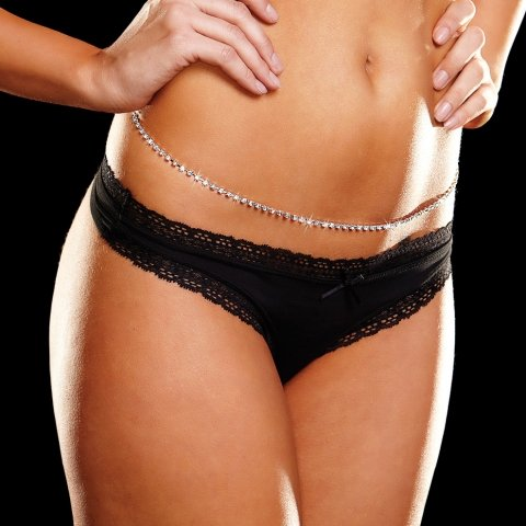 "RHINESTONE BELLY CHAIN, (39"")"