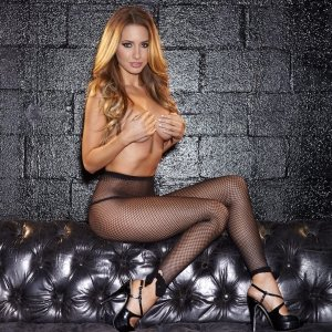 Hustler Lingerie Footless Fishnet Pantyhose