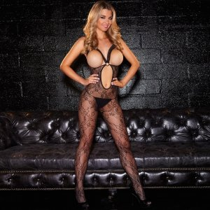 "Hustler Lingerie Crotchless """"Show Me"""" Bodystocking"""