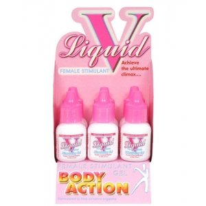 Liquid V for Women Female Stimulating Gel - 6 Pack Display