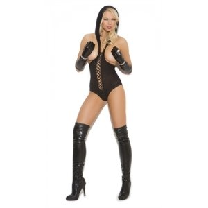 Hooded Teddy - Black - One Size