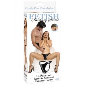 Fetish Fantasy 10 Function Remote Control Fantasy Panty - Black