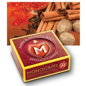 Monogamy Small Massage Candle - Steamy - Amber And Oriental