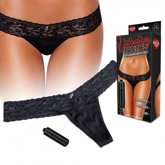 Hustler Toy Lingerie Vibrating Lace Thong