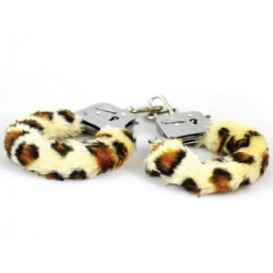 Play Time Cuffs - Leopard Print