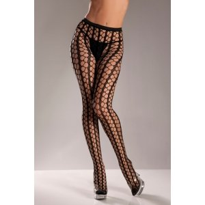 Warning Net Pantyhose - One Size