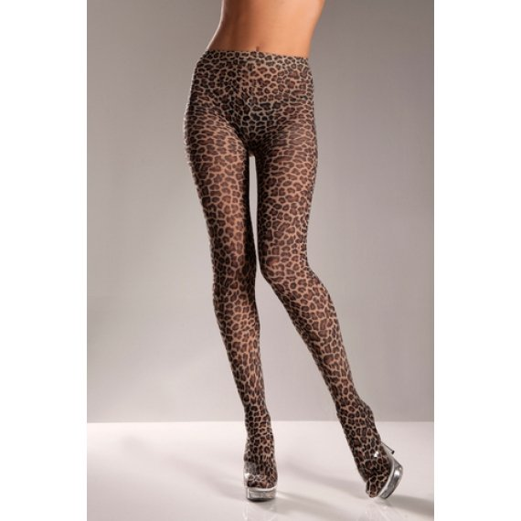 Leopard Tights - One Size
