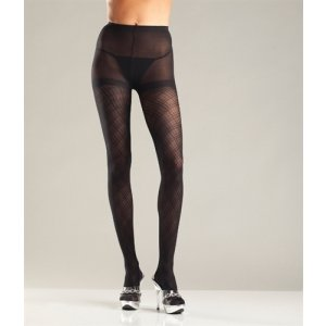 Multi Diamond Pattern Tights -  One Size