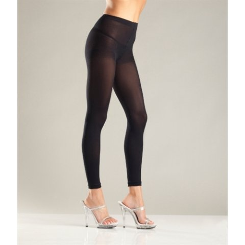 Opaque Footless Tights - One  Size