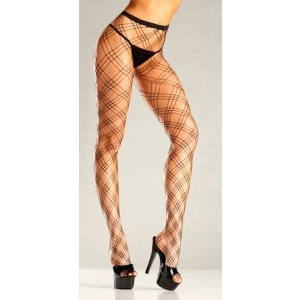 Diamond Net Pantyhose -  One Size