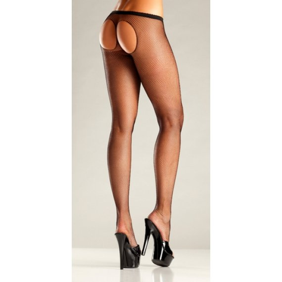 Sheer Thong Pantyhose - One  Size
