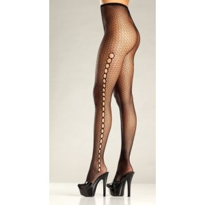 Seamless Spandex Fishnet - Black - One Size