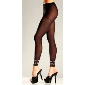 Opaque Footless Pantyhose  - One Size