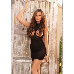 Black Cupless Mini Dress
