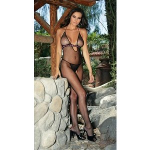 Black Empire Waist Bodystocking