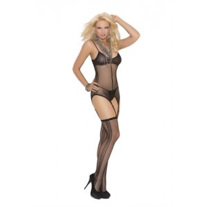 Fishnet Cami Set - Black - One Size