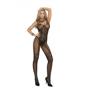 Fishnet Bodystocking - Black - Queen Size