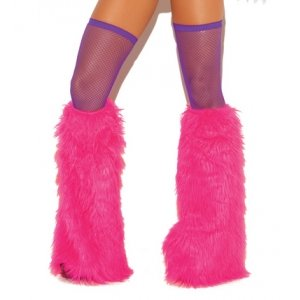Fishnet Thigh High - Neon Purple - One Size