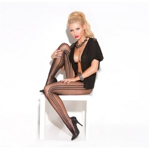Fishnet Pantyhose - Black - One Size