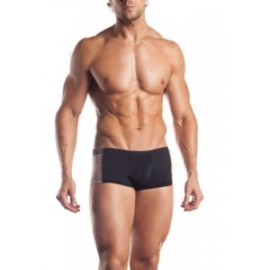 Fishnet Side Panel Brief - Black - One Size