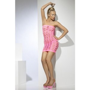 Seamless Mini Tube Dress - Neon Pink
