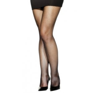 Fishnet Tights - Black -  Extra Large  Fv-22082