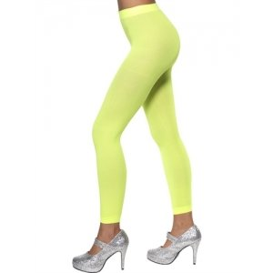 Footless Tights - Neon Green  Fv-37144