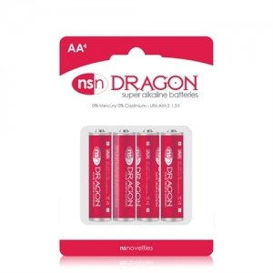Dragon - Alkaine Batteries - AA - 4 Pack