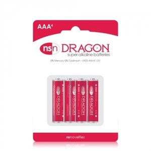 Dragon - Alkaine Batteries - AAA - 4 Pack