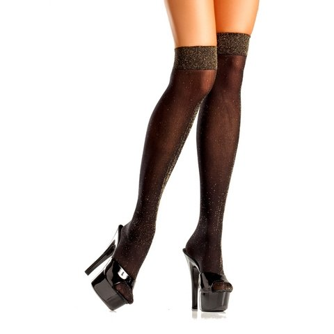 Opaque Black Knee Highs - One  Size