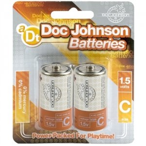 Doc Johnson Batteries - C - 2 Pack