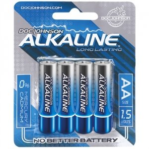 Doc Johnson Alkaline AA Batteries - 4 Pack