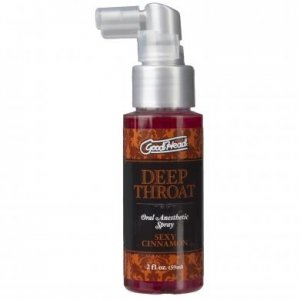 Goodhead Deep Throat Oral Aneshetic Spray 2 oz. - Sexy Cinnamon
