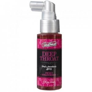 Goodhead Deep Throat Oral Aneshetic Spray 2 oz.  - Sweet Strawberry