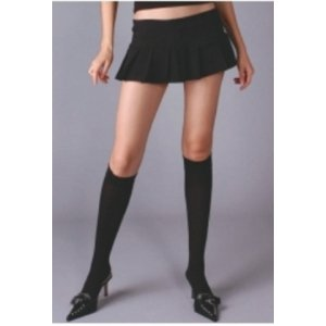 Black Opaque Knee High Stockings