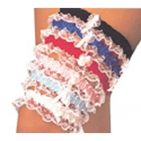 Assorted Colors Lace Leg Garters- Each