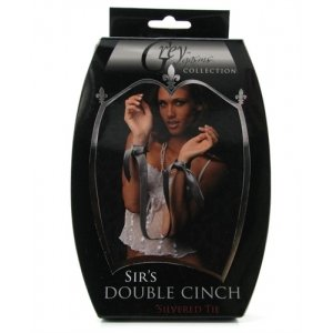 Sirs Double Cinch Silvered Tie