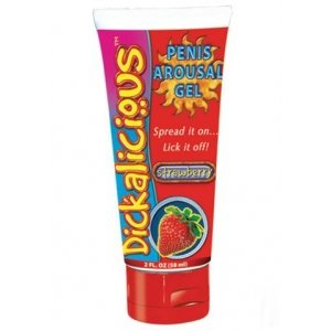 Dickalicious Penis Arousal Gel Strawberry - 2 oz.