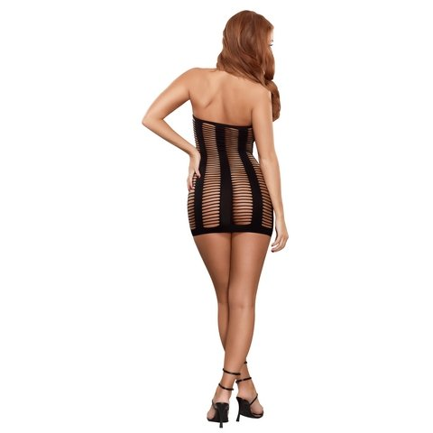 Ladder Dress - Black - One Size