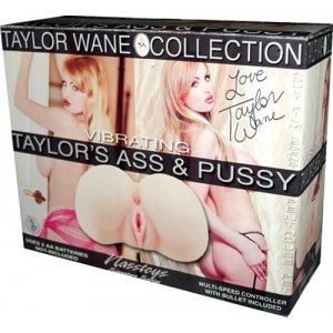 Taylor Wane Vibrating Ass and Pussy Flesh